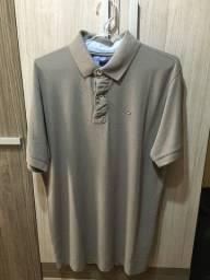 Título do anúncio: Camisa Polo Tommy Hilfiger Reta Logo Marrom (Importada)