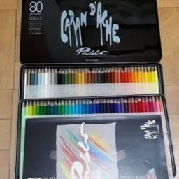 Lápis de cor Pablo - estojo com 80 cores - Caran d'ache / Porto Alegre RS