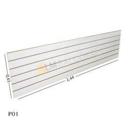 Título do anúncio: Painel Canaletado Branco 0,61 x 2,44