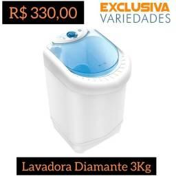 Título do anúncio: Lavadora Tanquinho 3kg Semi-Auto Branco Newmaq