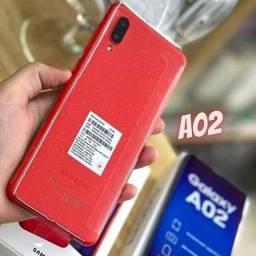 Título do anúncio: Samsung A02 32GB NOVOS Lacrados Aceito Cartão