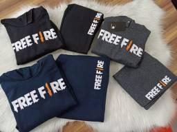 Conjunto Free Fire 8 ao 16 Moletom