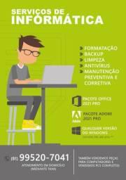 Formatação, Office, Adobe e etc