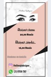 Título do anúncio: Designer de sobrancelha
