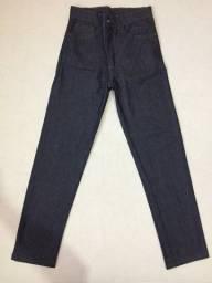 (Aceito cartão) Calça Jeans Reta Cor Cinza Escuro (Nova) - Tamanho 40