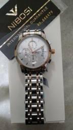 Título do anúncio: Relógio de Luxo Nibosi Original em Aço
