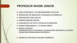 Título do anúncio: AULA DE REFORÇO/PARTICULAR