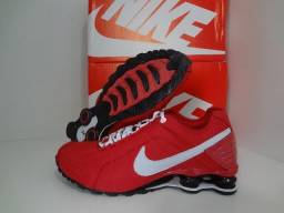 Nike Shox Junior Quatro Vermelho Molas -Aceito- cartões