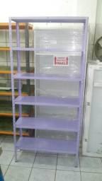Estante lilás com 6 prateleiras - direto de fábrica