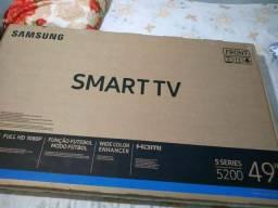 Leia todo anúncio, tv smart 49 Samsung nova sem uso caixa lacrada tem nota fiscal