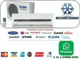 Instalação de Ar Condicionado Elgin 12000btus - Condomínio Melville (Tamboré)