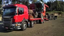 Serviço de transporte de máquinas - Caminhão Plancha