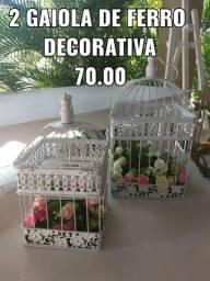 2 gaiolas quadradas decorativas