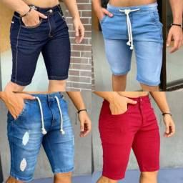 Bermudas masculina jeans/destroyed
