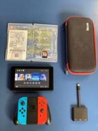 Nintendo Switch + Traveler Dock + Controle + Pokemon Let?s Go Game