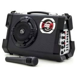 Caixa de Som Multilaser SP191 Multiuso Preto - 80W USB e MP3 com Microfone