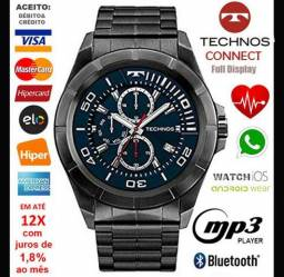 """Smartwatch Tecnos Connect 3.0 Full Display, LCD 1.3"""", Android e iOS, Novíss, Cx, NF, Gar"""