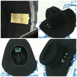 Chapéu preto masculino tamanho 57 b0f3c1dce7d