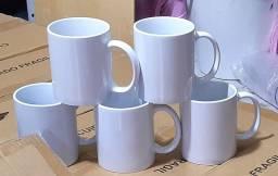 Título do anúncio: Canecas de Porcelanas Brancas Para Sublimação Lisas 12 Unidades