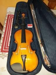 Violino 4x4 Tander novo, com case, arco, afinador e resina