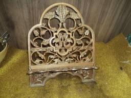 Porta biblia revista antiga bronze /mesa//