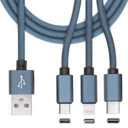 Título do anúncio: Cabo USB 3 em 1