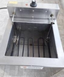 Fritador Fritadeira Tacho Elétrico Água e Óleo 23L Mesa SFAO4 Venâncio 127V