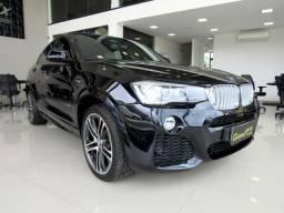 BMW X4 2016 3.0 M SPORT 35I 4X4 24V TURBO GASOLINA 4P AUTOMÁTICA PRETA TOP DE LINHA!