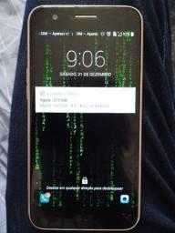 (USADO) celular lg k10 2017 dual sim 32gb dourado 2gb ram