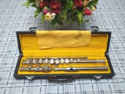 Flauta Transversal Americana Rara e Antiga Ambassador F.E. Olds & Sons