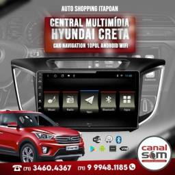 Título do anúncio: Central Multimídia Hyundai Creta Car Navigation 10Pol Androide WiFi Instalada na Canal Som