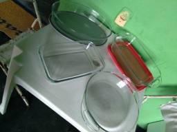 Assadeiras de vidro marinex novas