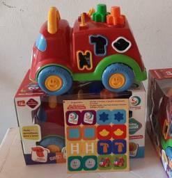 Caminhão de Brinquedo Baby Land - Dino Bombeirinho Cardoso Toys com Acessórios
