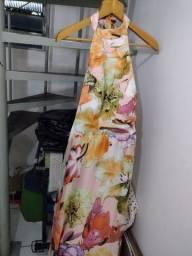Vestido de festa de seda novo