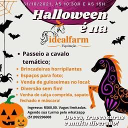 Título do anúncio: Halloween na Idealfarm Equitação Viamão RS Brincadeiras Passeio a Cavalo
