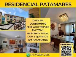Título do anúncio: Residencial Patamares, casa triplex, 3 quartos em 170m² com 4 vagas - Imperdível