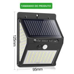 Luminária Solar 144 Leds Com Poderoso Sensor de Presença