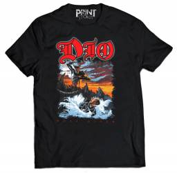 camiseta dio(holy diver) camiseta banda heavy metal silk screen