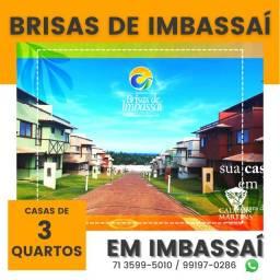 Título do anúncio: Casas Duplex no Brisas de Imbassaí, 3/4 com 1 suíte e 3 vagas em 89m² - Lançamento