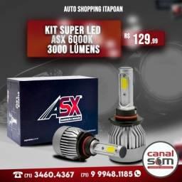 Título do anúncio: Kit Super Led Asx 6000k 4800 Lúmens instalado na Canal Som