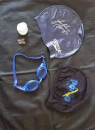 Kit para natação +touca de pano de brinde