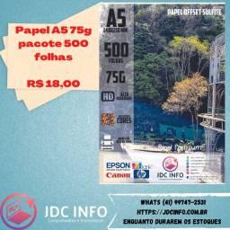 Título do anúncio: Papel fotográfico, papel sulfite e papel offset é na JDC