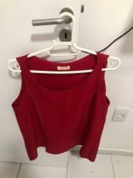 Título do anúncio: Blusa Vermelha Alça Larga - Novíssima