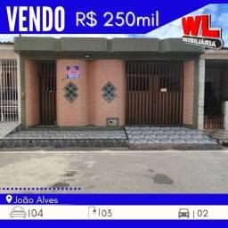 Título do anúncio: Vendo-Casa ótima localizada no Bairro joão Alves