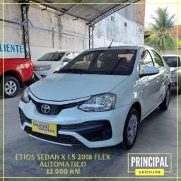 Título do anúncio: Toyota Etios Sed X 1.5 2018 - Automatico