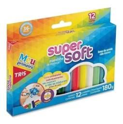 Título do anúncio: R$8,90 - Massinha Modelar 12 Cores Super Soft Tris Ultra Macia
