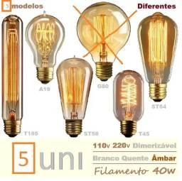 Título do anúncio: Kit de lâmpadas com filamento - 5 unid