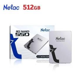 Título do anúncio: Ssd 3d Nand 512gb Netac Sata3 2.5' 6gb/s ate 12x no cartão