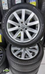 Título do anúncio: Jg roda Vw Jetta Aro 17 5x112 + Pneu 225/50 r17 Michelin semi.novo