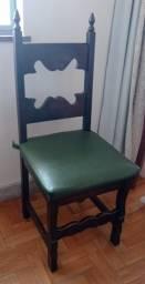 Título do anúncio: Conjunto de 5 cadeiras madeira maciça com almofadas